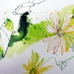 Detail Stand der Dinge - Gelbe Blumen (c) Zeichnung von Susanne Haun