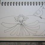Detail Neptunbrunnen Bologna (c) Zeichnung von Susanne Haun