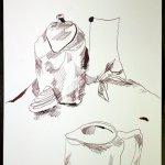 Eine Kanne drehen (c) Zeichnung von Susanne Haun