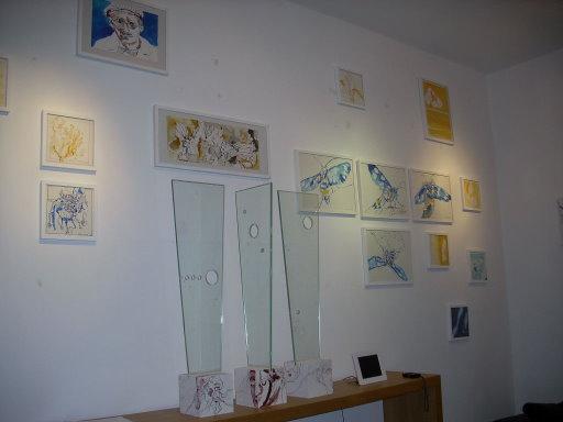 In meiner Ausstellung im Komet (c) Foto von Ulrich Glause