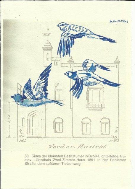 Heimat Lichterfelde - Der Traum vom Fliegen Blatt 51 (c) Überzeichnung von Susanne Haun
