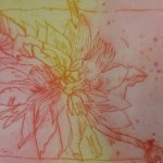 Dahlie Nr. 4 Strichätzung 15 x 20 cm (c) Radierung von Susanne Haun