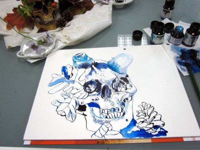 Entstehung Herbst (c) Zeichnung von Susanne Haun