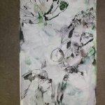 Für den SChmetterlin habe ich grüne Antiktusche benutzt (c) Leinwand von Susanne Haun
