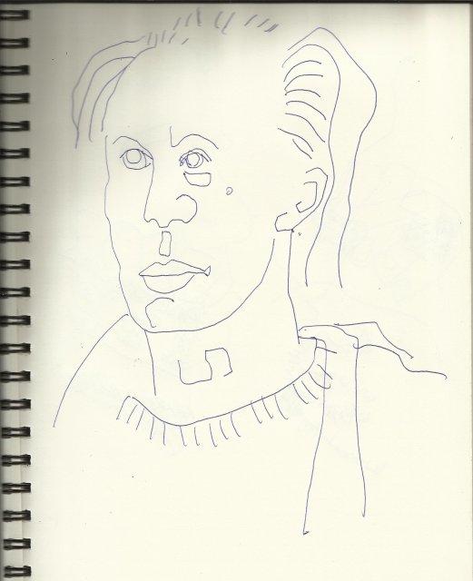 In einer Linie - Gedanken zur Lektüre von Carlfriedrich Weiß (c) Zeichnung von Susanne Haun