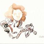 Fassadenfiguren Herzzentrumm Version 3 Tusche auf Bütten 17 x 22 cm (c) Zeichnung von Susanne Haun (3)