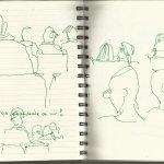 Beethovens Musik Zuschauer Septett Es-Dur op.20 (c) Zeichnung von Susanne Haun
