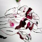 Detail rosa Blüte (c) Foto und Zeichnung von Susanne Haun