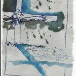 Die Gesichter des Kreuzes warfen Schatten (c) Zeichnung von Susanne Haun