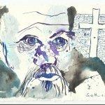 Der weinende Antonius bemerkt es (c) Zeichnung von Susanne Haun