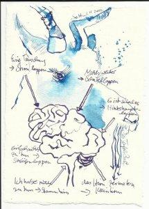 Blatt 39 Nichts weiter, um das Hirn zu matern (c) Zeichnung von Susanne Haun