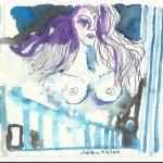 Blatt 43 Ammonaria in der Säulenhalle (c) Zeichnung von Susanne Haun