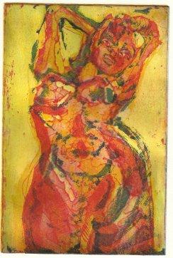 Üppig rot (c) Radierung von Susanne Haun