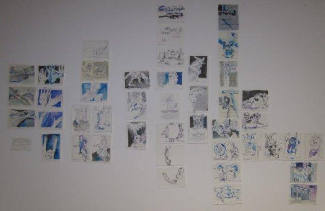 Meine Arbeiten bisher zur Versuchung Antonius (c) Foto von Susanne Haun