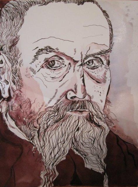 1 Mein Sinnbild von Cranach 2010 (c) Zeichnung von Susanne Haun