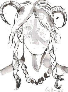 Ein Dämon werde ich (c) Zeichnung von Susanne Haun