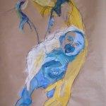 Mutter und Kind 100 x 70 cm (c) Skizze von Susanne Haun