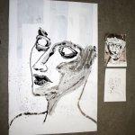 Entstehung der steinernen Tränen (c) Leinwand von Susanne Haun