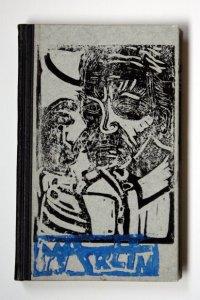 Vorderseite Künstlerunikatbuch Mann Meer Marlin (c) von Susanne Haun