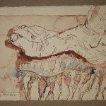 11 Er zerstmapfte sie gerne am Strand (c) Zeichnung von Susanne Haun