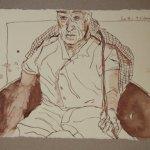 13 Er stemmte seinen Rücken gegen sie (c) Zeichnung von Susanne Haun