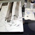 Entstehung Dämonen im Schlaf (c) Leinwand von Susanne Haun