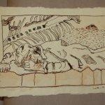 27 Und er schlief (c) Zeichnung von Susanne Haun