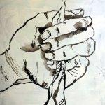 Entstehung - Um das Gute mit der Wurzel auszureißen - 100 x 70 cm - (c) Leinwand von Susanne Haun