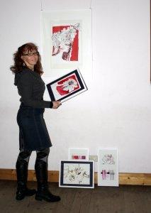Susanne Haun beim Hängen (c) Foto von Conny Niehoff