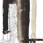 Die anderen Leute kommen nie zur Ruhe 17 x 22 cm Tusche auf Bütten 2011 (c) Zeichnung von Susanne Haun
