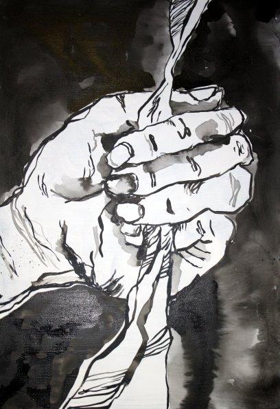 Um das Gute mit der Wurzel auszureißen - 100 x 70 cm - (c) Leinwand von Susanne Haun