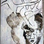 Anlage des Bildes Im Herz ein Dämon (c) Leinwand von Susanne Haun