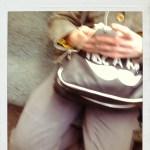 Handy in der S-Bahn (c) Polaroid von Susanne Haun
