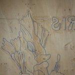 Schnitte im Holz (c) Foto von Susanne Haun