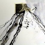 Blatt 16 Die Zeit rollt vom Berg (Entstehung) (c) Collage von Susanne Haun