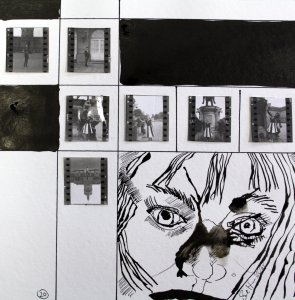 Blatt 20 Am Schloss (c) Collage von Susanne Haun