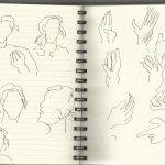 Im Vorlesungssaal (c) Zeichnung von Susanne Haun