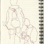 In der S-Bahn Vers.3 (c) Zeichung von Susanne Haun