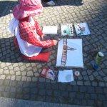 Malen mit Kindern am Bodemuseum (c) Foto von Susanne Haun