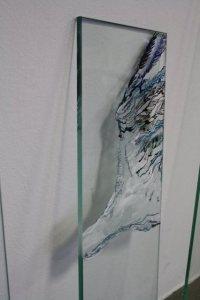 Vogelflügel - Zeichnung auf Glas von (c) Susanne Haun