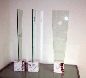 Konstellationen (c) Zeichnung auf Holz und Glas von Susanne Haun