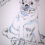 Verbindung zur Rolle - Mops (c) Zeichnung von Susanne Haun