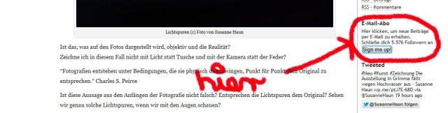 eMail Abo Blog Susanne Haun
