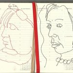 Selbstportrait Tagebuch 22. Woche (c) Zeichnungen von Susanne Haun