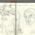 Selbstportrait Tagebuch 23. Woche (c) Zeichnungen von Susanne Haun