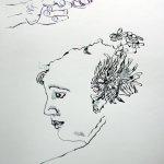 Entstehung Helene von Dönniges (c) Zeichnung von Susanne Haun