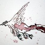 Detail Vogel - Ich stürze in den Abgrund - 65 x 50 cm (c) Zeichnung von Susanne Haun