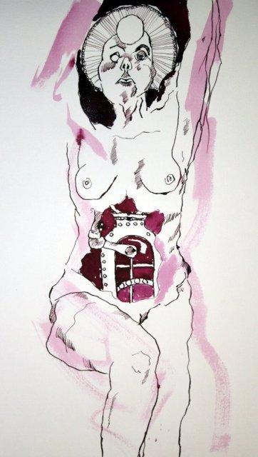 Entstehung Götzen Version 2 - 65 x 50 cm (c) Zeichnung vonSusanne Haun
