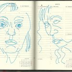 Selbstportrait Tagebuch 32. Woche (c) Zeichnung von Susanne Haun