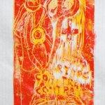 Druck von zwei Plattenzuständen übereinander (c) Holzschnitt von Susanne Haun